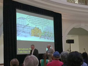 A packed house kicks off the downtown plan at the Rotunda building